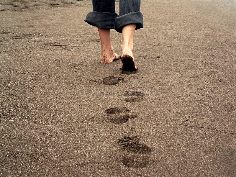 следы ноги стоковая фотография rf