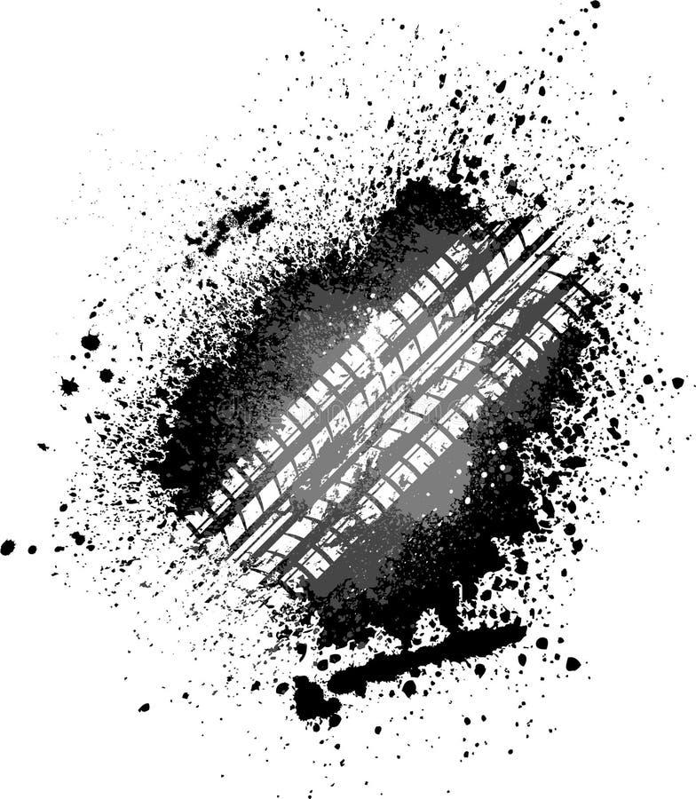 след автошины выплеска иллюстрация вектора