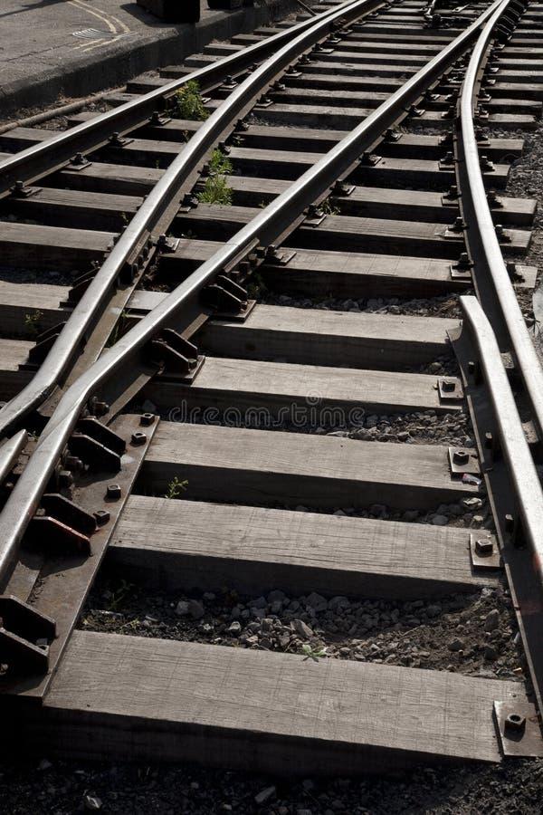 след железной дороги кривого стоковое изображение