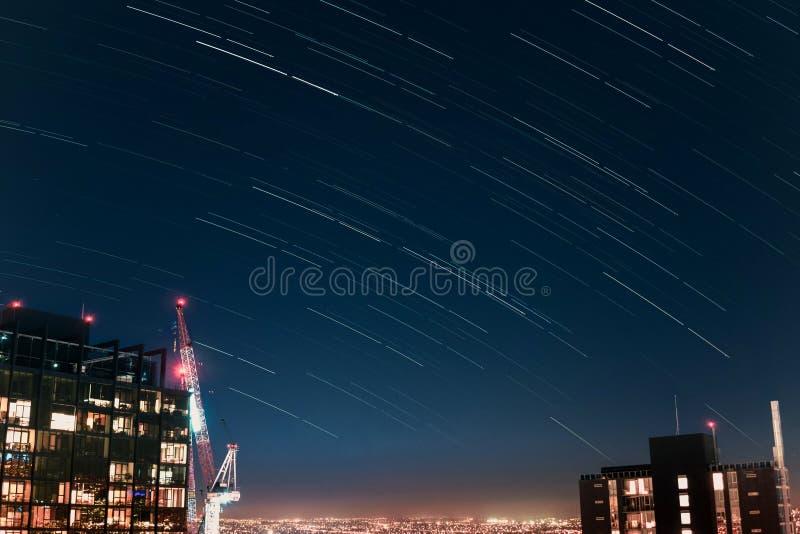 След звезды ландшафта стоковая фотография