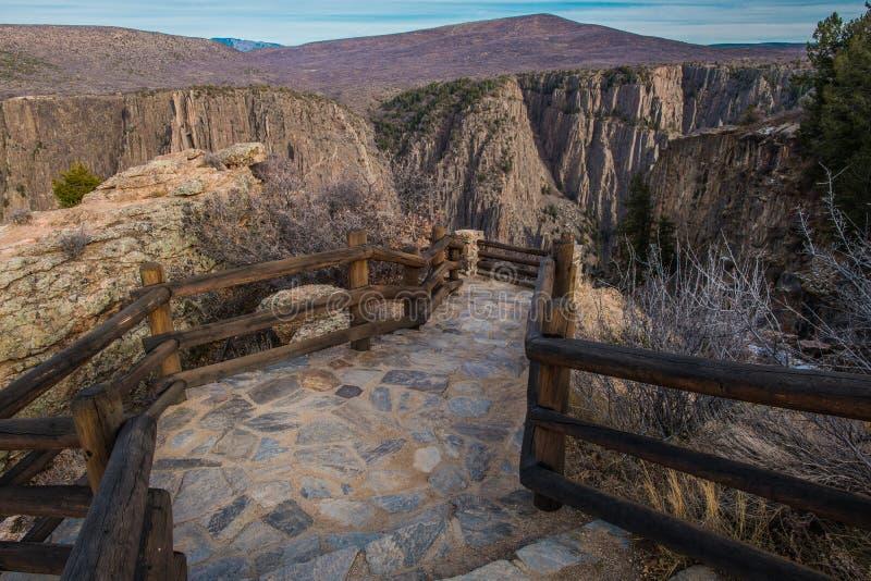 След каньона черноты Gunnison стоковые фотографии rf