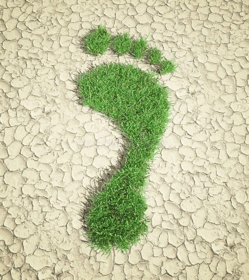 след ноги принципиальной схемы экологический иллюстрация вектора