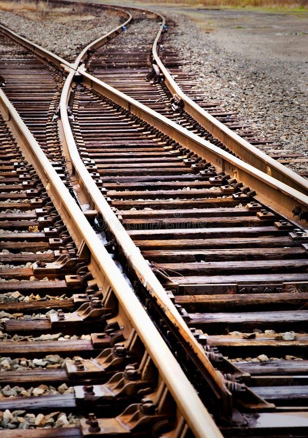 след переключателя железной дороги стоковые фото