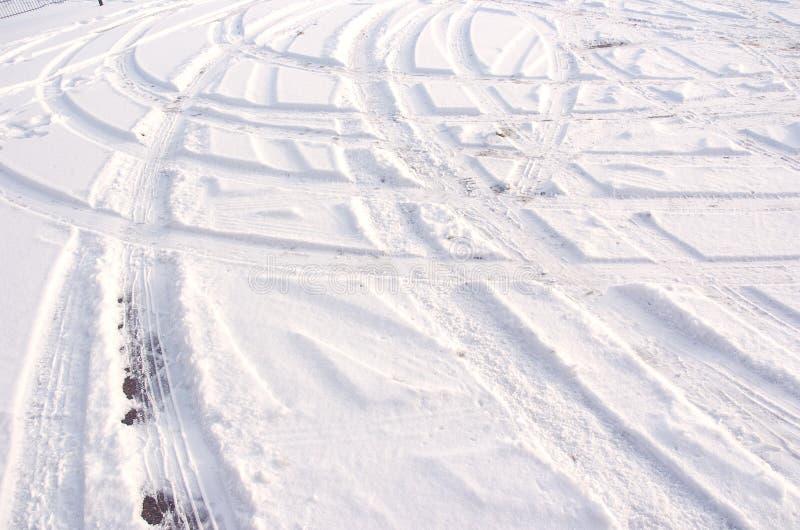 след снежка стоковая фотография