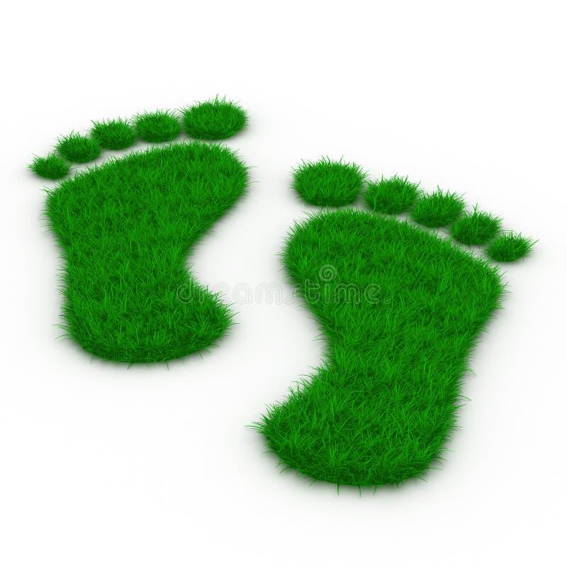 след травы ноги иллюстрация вектора