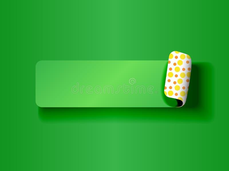 Слезать зеленый цвет ярлыка на зеленом цвете иллюстрация штока