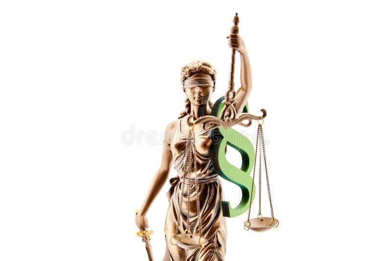 Слепое Justitia как концепция для правосудия и закона стоковые изображения rf