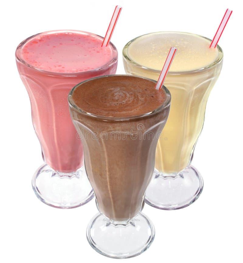 сливк выпивает milkshake льда стоковые изображения