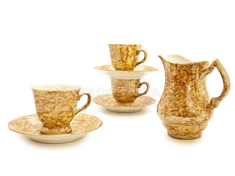сливк кофе придает форму чашки кувшин стоковое фото rf