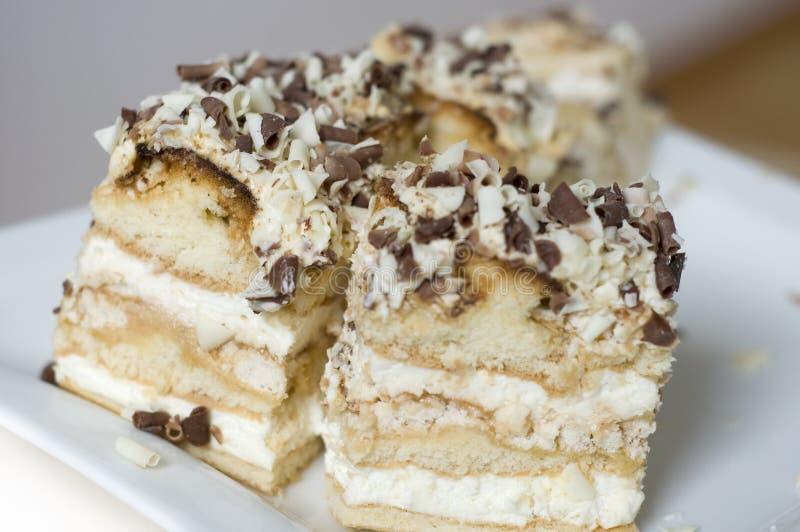 сливк шоколада торта стоковые изображения