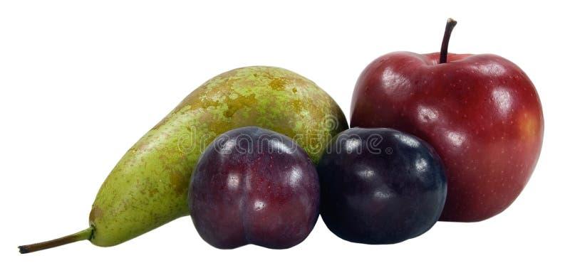 сливы груши яблок пурпуровые стоковая фотография
