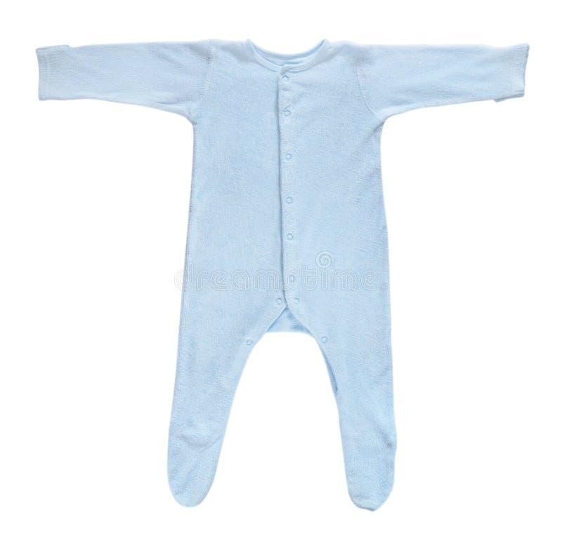 Слипер голубого младенца изолированный на белизне стоковые изображения