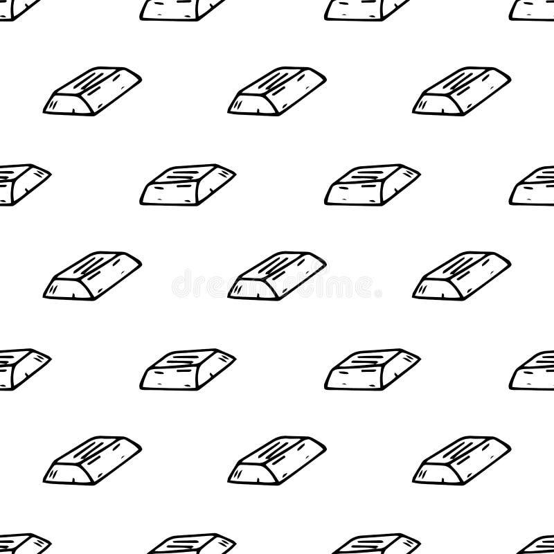 Слиток безшовной руки картины вычерченный Эскиз черноты Doodle r иллюстрация штока