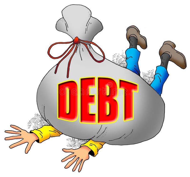 Слишком много задолженности. бесплатная иллюстрация
