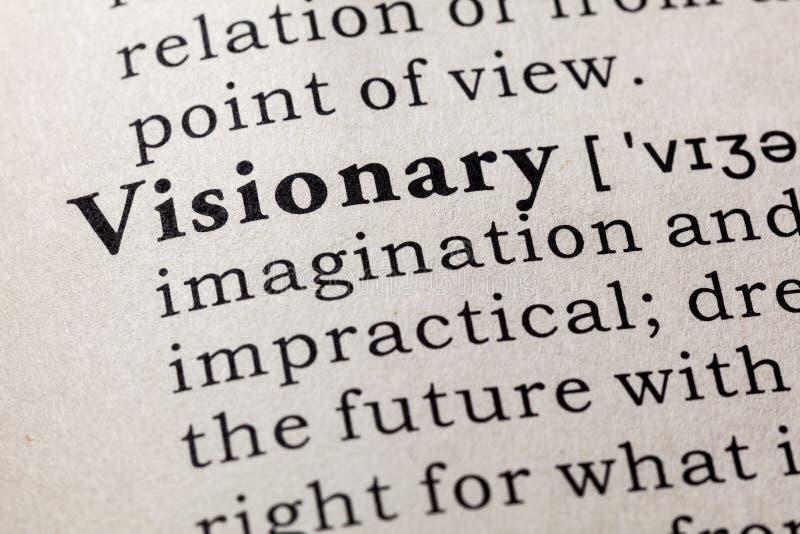 Словарное определение визионера слова стоковое фото