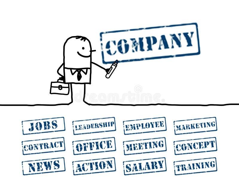 слова бизнесмена бесплатная иллюстрация