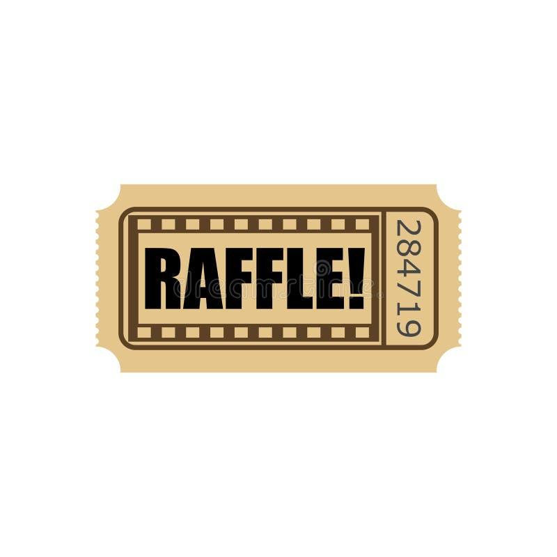 Слово билета лотереи вписывает состязание иллюстрация штока