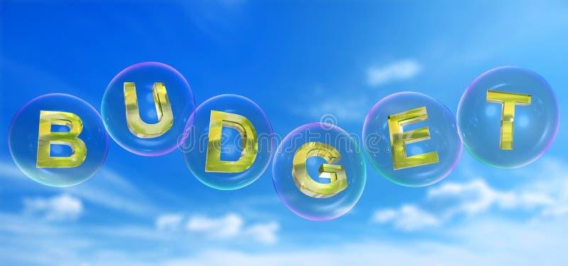 Слово бюджета в пузыре иллюстрация штока