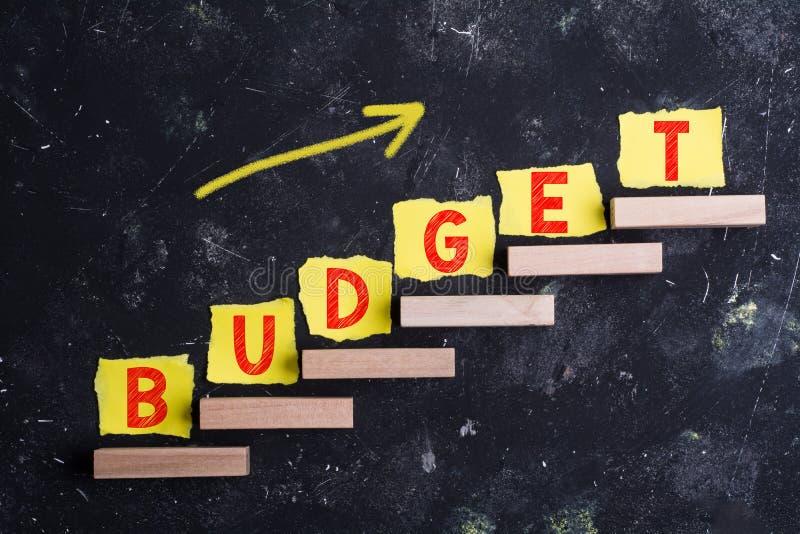 Слово бюджета на шагах иллюстрация вектора