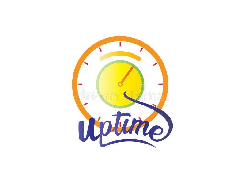 Слово вверх по логотипу времени иллюстрация штока