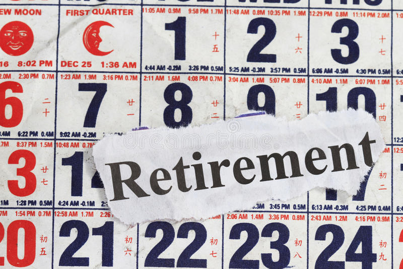 слово выхода на пенсию стоковые изображения