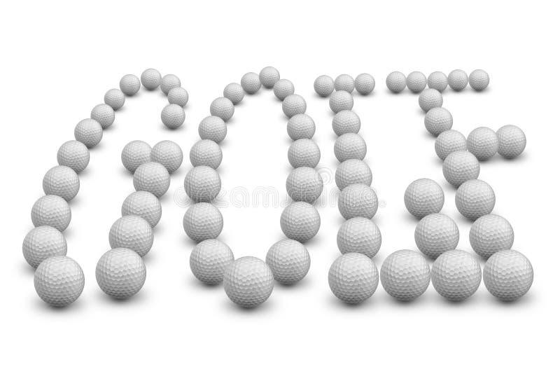 слово гольфа иллюстрация вектора
