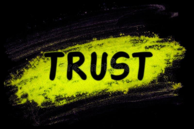 Слово доверия с порошком зарева бесплатная иллюстрация