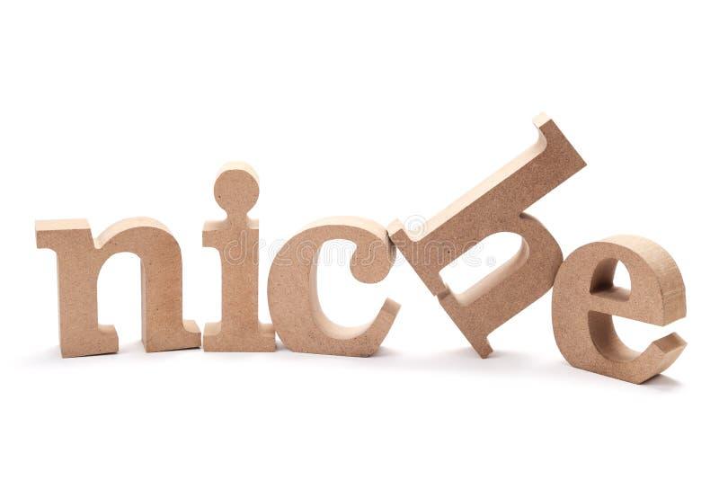 Слово древесины НИШИ стоковое изображение