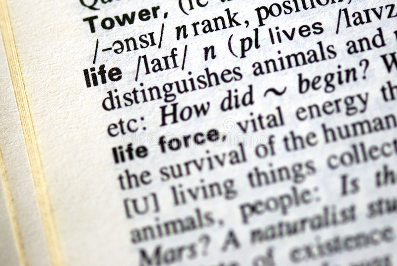 слово жизни словаря стоковое изображение rf