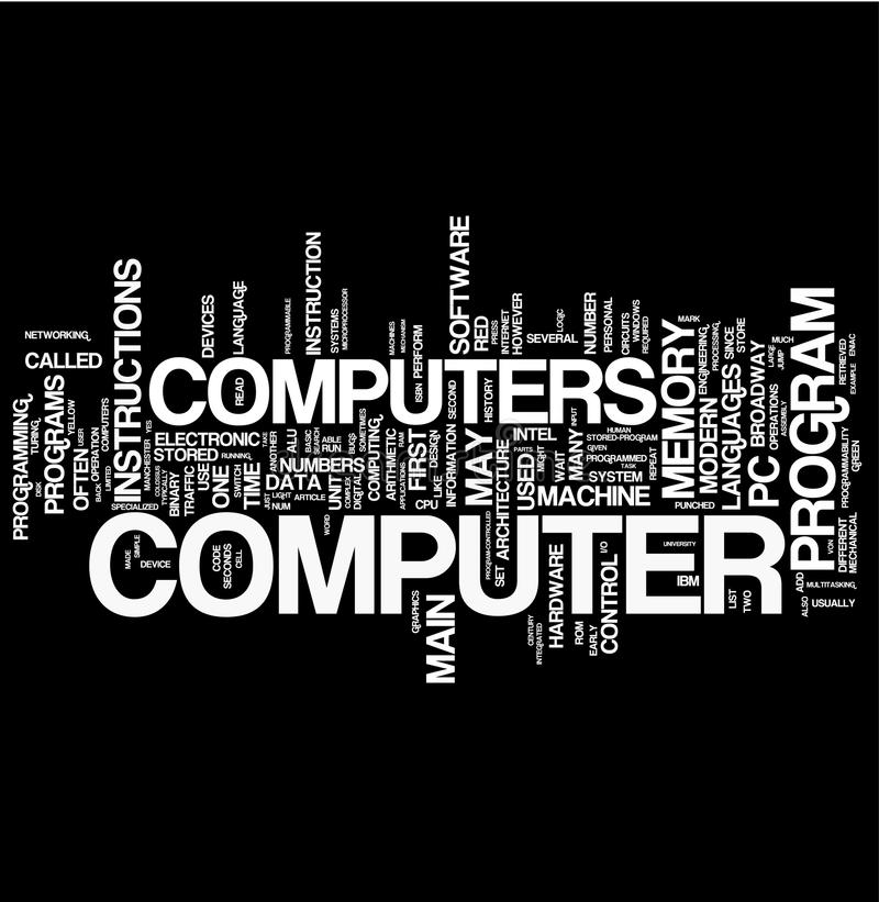 слово компьютера коллажа иллюстрация штока