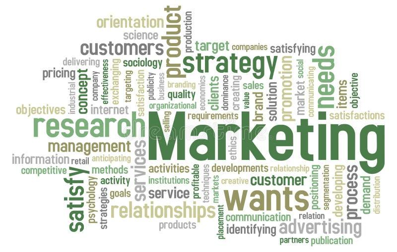 слово маркетинга облака иллюстрация вектора