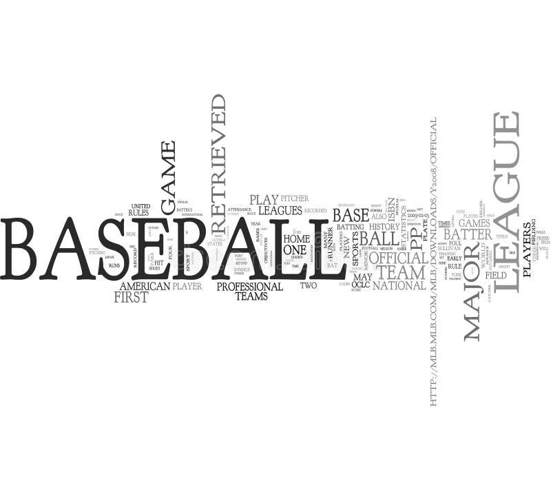 слово облака бейсбола бесплатная иллюстрация