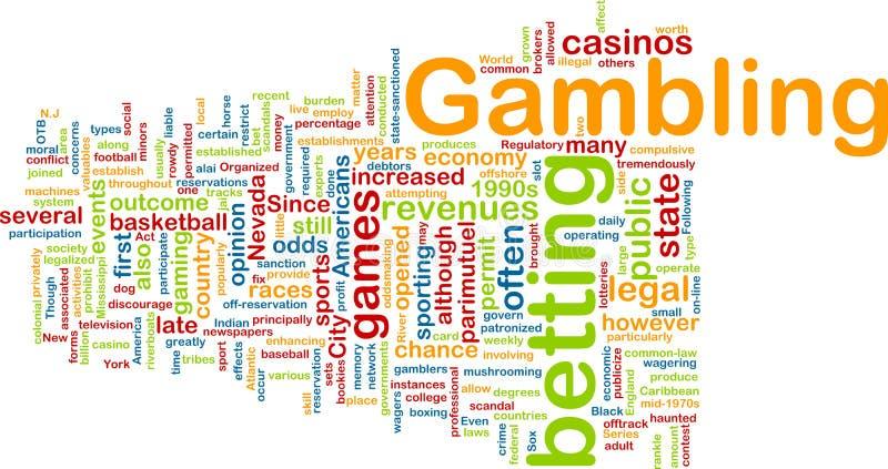 слово облака играя в азартные игры бесплатная иллюстрация