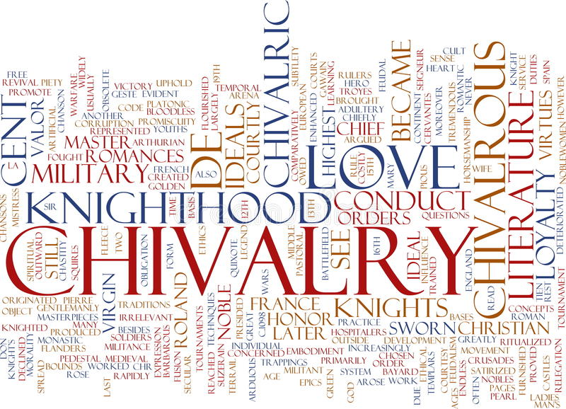 слово облака chivalry бесплатная иллюстрация