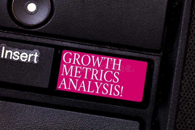 Слово писать анализ метрической системы мер роста текста Концепция дела для оценивать компанию s историческая клавиатура роста стоковое фото rf