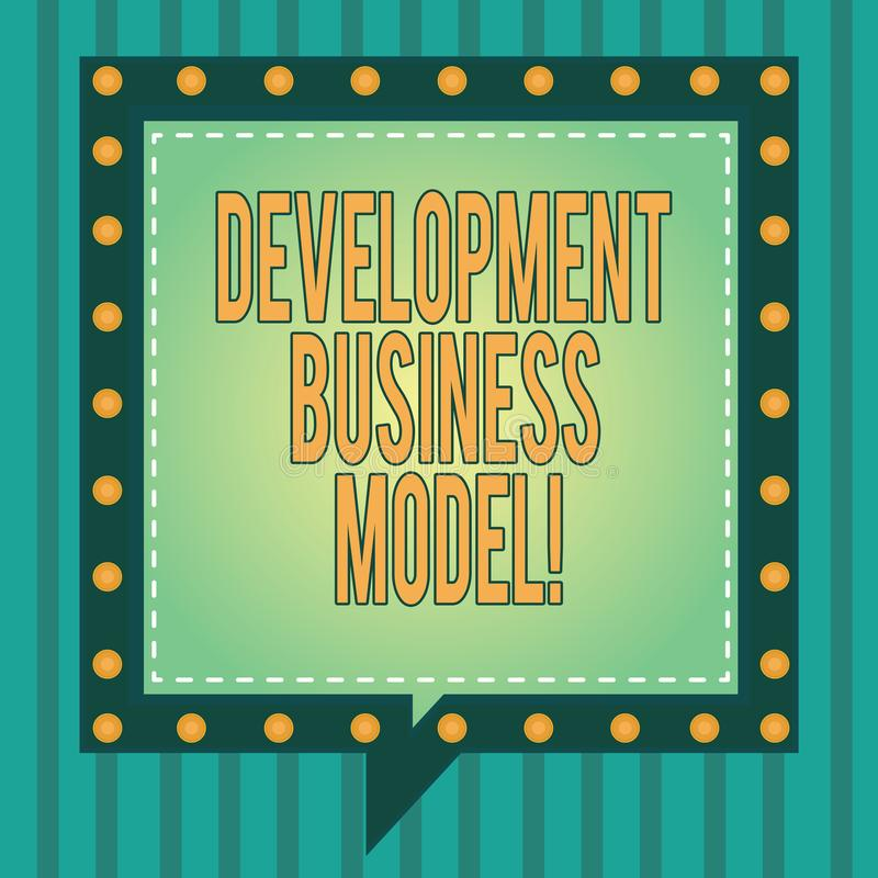 Слово писать бизнес модель развития текста Концепция дела для разумного объяснения как организация создала квадрат иллюстрация штока