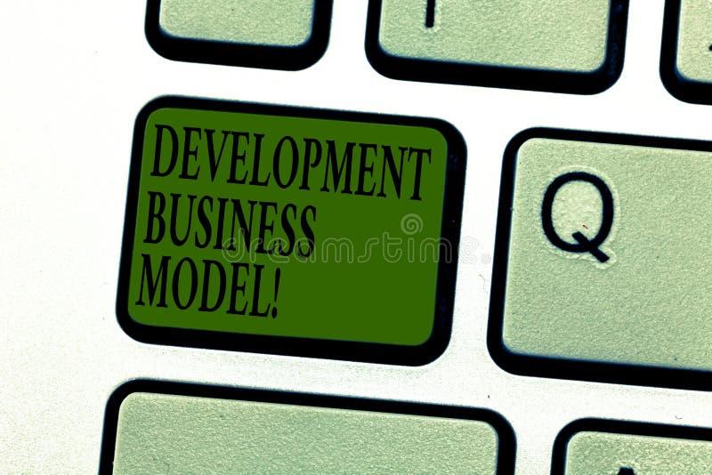 Слово писать бизнес модель развития текста Концепция дела для разумного объяснения как организация создала клавишу на клавиатуре иллюстрация штока