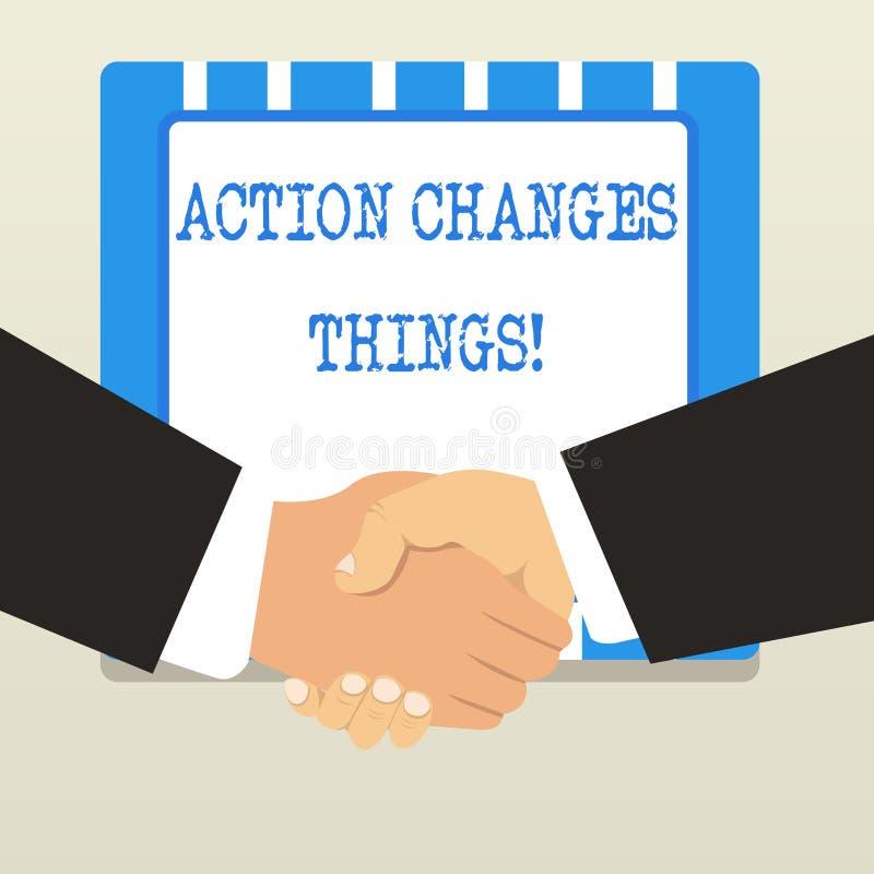Слово писать вещи изменений действия текста Концепция дела для начала делая что-то против проблемы для того чтобы разрешить или д бесплатная иллюстрация
