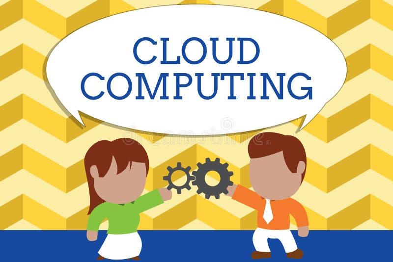 Слово писать вычислять облака текста Концепция дела для пользы сеть удаленных серверов хозяйничала в Интернете стоять бесплатная иллюстрация