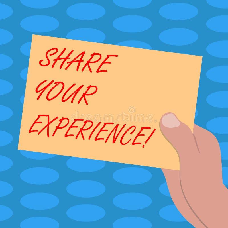 Слово писать доле текста ваш опыт Концепция дела для говорить о навыках вы приобретали через время иллюстрация штока
