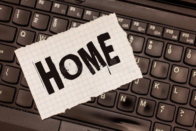 Слово писать дом текста Концепция дела для места где одно живет постоянно рожденные друзья семьи страны существует стоковое изображение rf