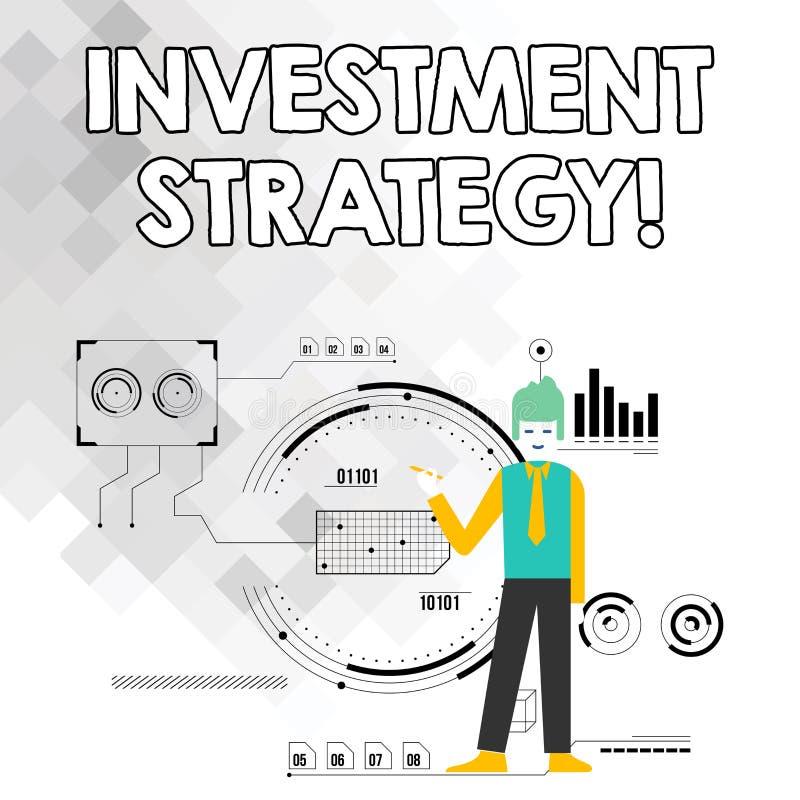 Слово писать инвестиционную стратегию текста Концепция дела для систематического плана для того чтобы размещать приемлемого для и бесплатная иллюстрация