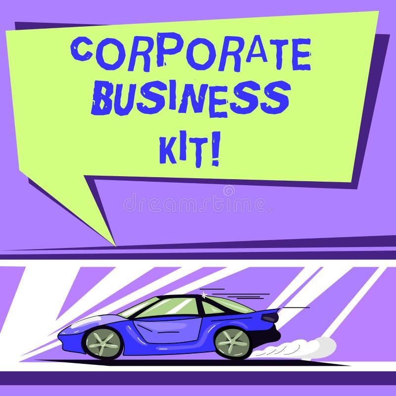 Слово писать набор корпоративного бизнеса текста Концепция дела для подгонянных структурных связывателя или эмблемы автомобиля де иллюстрация вектора