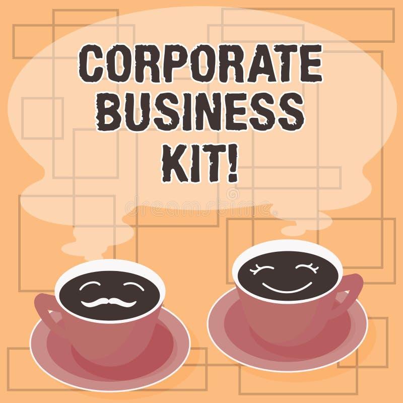 Слово писать набор корпоративного бизнеса текста Концепция дела для подгонянных структурных связывателя или эмблемы наборов дела иллюстрация вектора