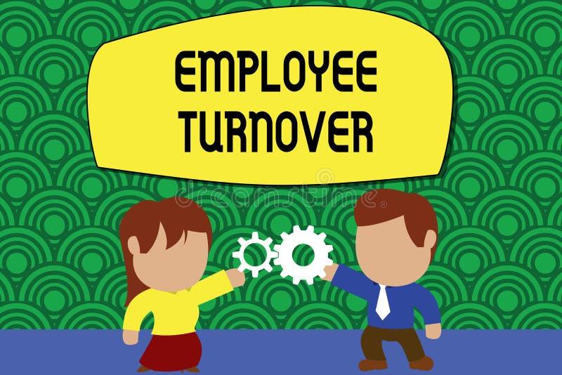 Слово писать оборачиваемость работника текста Концепция дела для количества или процента работников которые выходят организация иллюстрация вектора