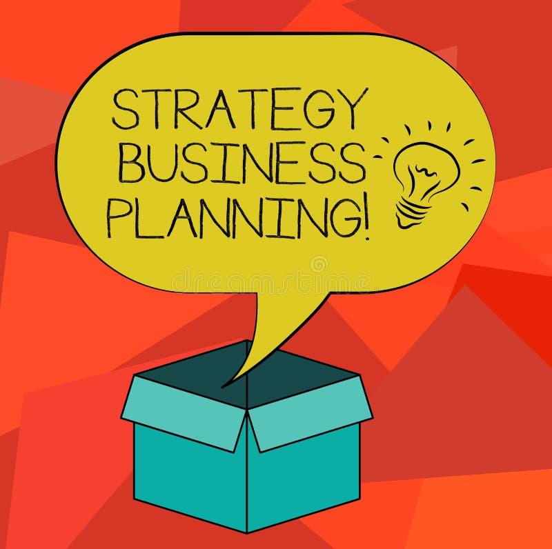 Слово писать планирование бизнеса стратегии текста Концепция дела для планов организация s идея общего направления иллюстрация вектора