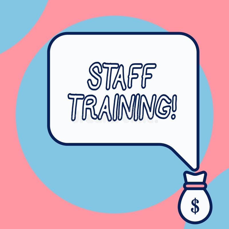 Слово писать подготовку персонала текста Концепция дела для программы которая конструирована для увеличения технических навыков иллюстрация вектора