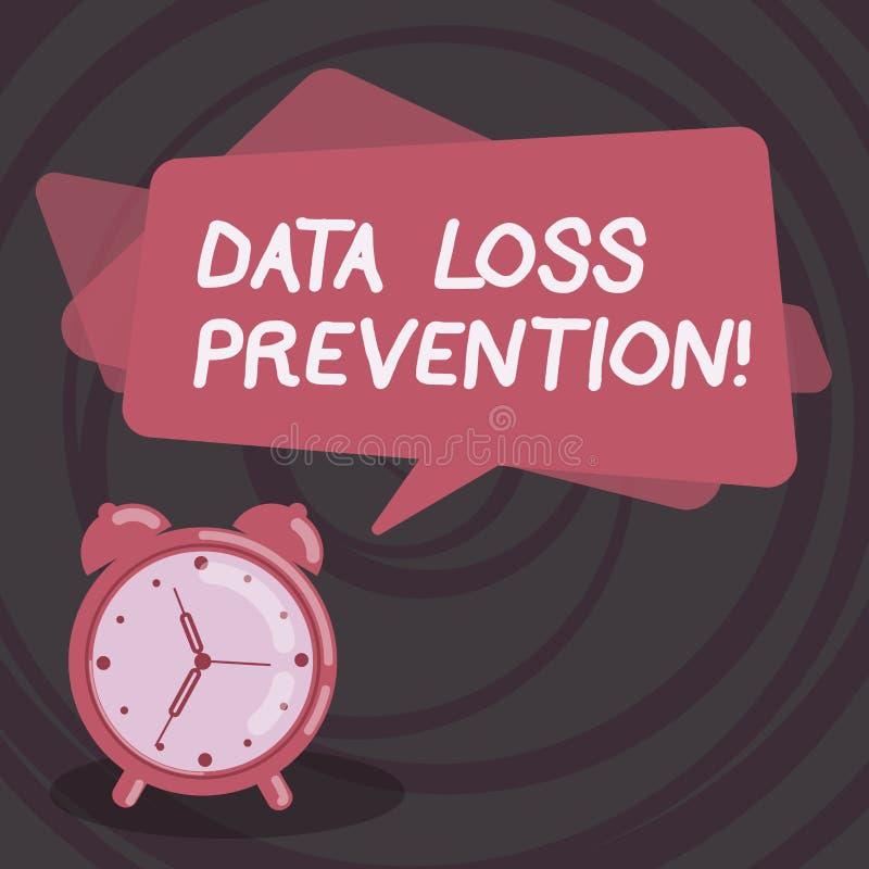 Слово писать предохранение потери данным по текста Концепция дела для программного обеспечения которое обнаруживает потенциальные бесплатная иллюстрация