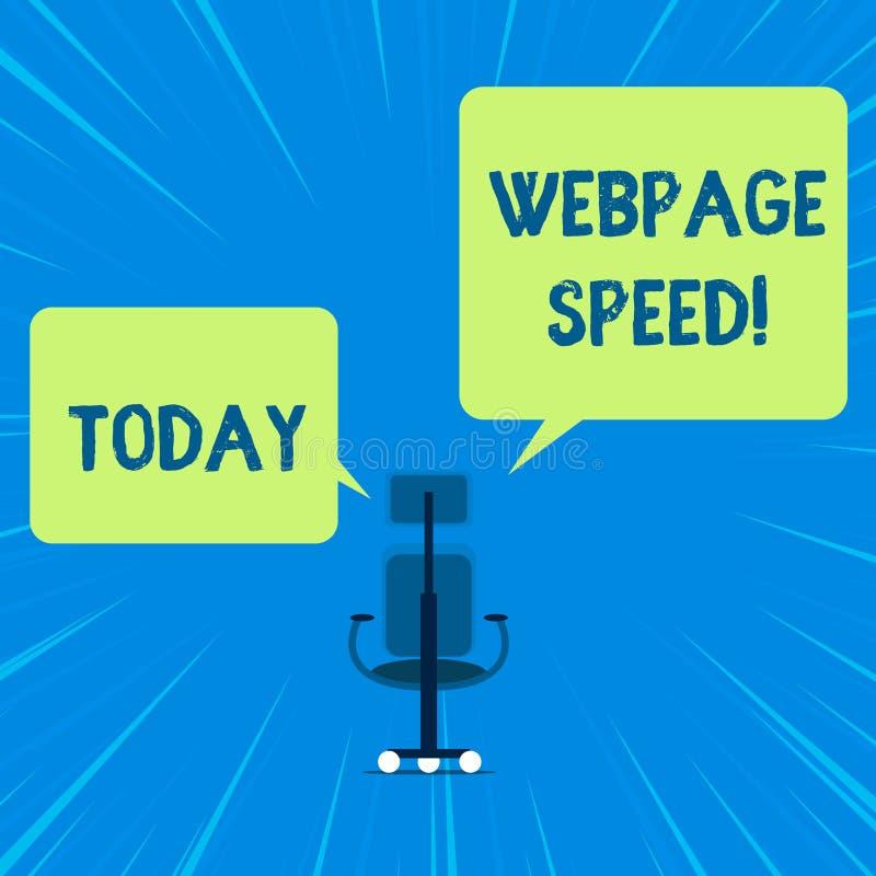 Слово писать скорость Веб-страницы текста Концепция дела для как быстро потребители могут увидеть и взаимодействовать с содержани бесплатная иллюстрация