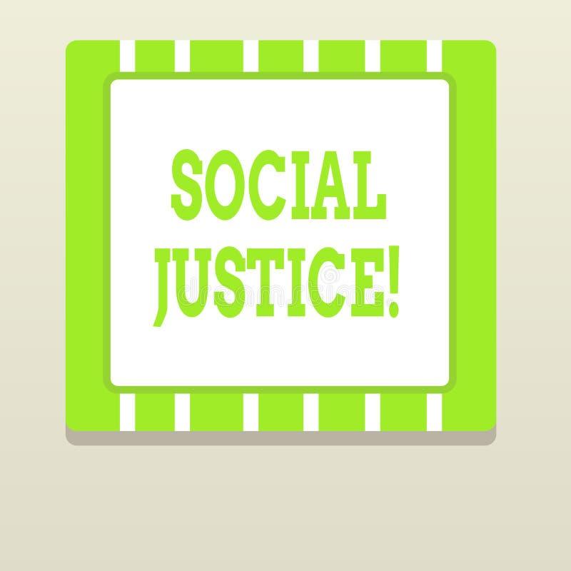 Слово писать социальную справедливость текста Концепция дела для равного доступа к богатству и привилегиям внутри общество бесплатная иллюстрация